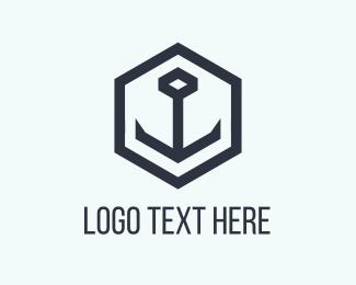 Sail - Black Anchor logo design