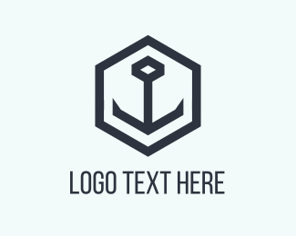 Anchor - Black Anchor logo design