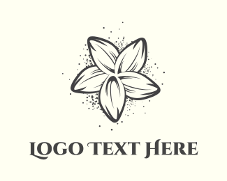 Fashion Label - Black Flower logo design