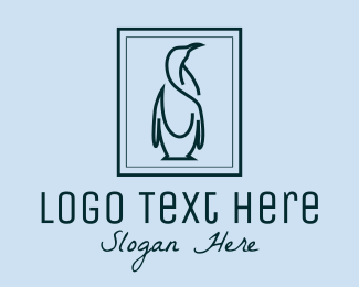 Zoo Animal - Penguin Picture Frame logo design