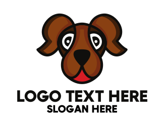 Brown Dog - Brown Friendly Dog logo design