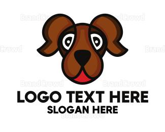 Breeder - Brown Friendly Dog logo design