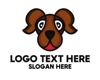 K9 - Brown Friendly Dog logo design