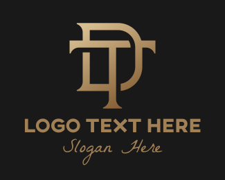 Luxury Brand - Elegant Bronze DT Monogram logo design
