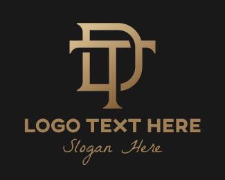 Elegant Bronze DT Monogram Logo