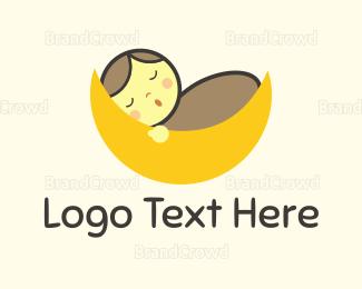 Bed - Baby Moon logo design