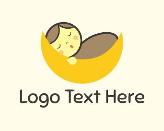 Sleep - Baby Moon logo design