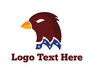 Patriotic - American Hawk logo design