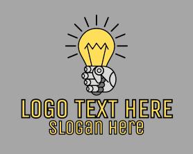 Light - Robot Light Lightbulb logo design