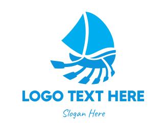 Sail - Row & Sail logo design