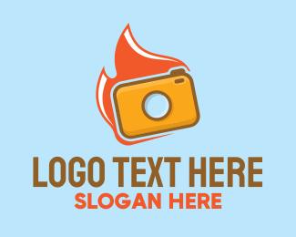 Flaming - Flame Camera logo design