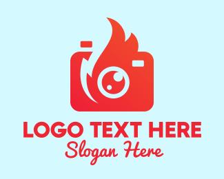 Youtube - Youtube Fire Camera logo design