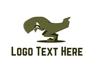Dinosaur - Tyrannosaurus Rex logo design