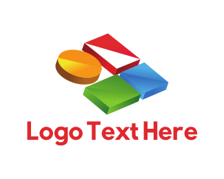 Geometrical - Colorful Buttons logo design