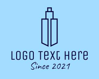 Building Maintenance - Blue Tower Building  logo design