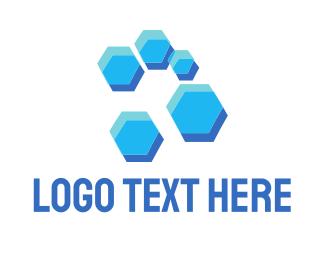 Hive - Blue Hive logo design