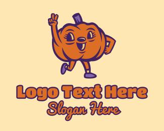 Peace - Peace Pumpkin Vegetable logo design