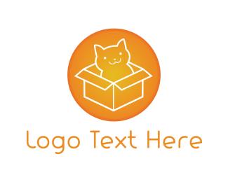 Sandbox - Cat Box logo design