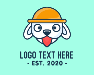 Doggie - Cute White Puppy logo design