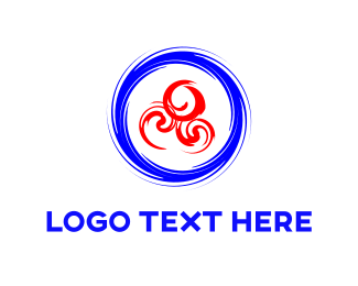 Rotate - Blue & Red Swirls logo design