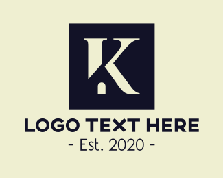 Property Agent - Real Estate Home Letter K logo design
