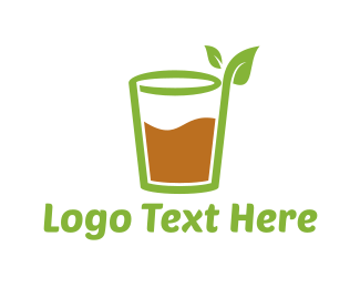 Vegan - Healthy Juice logo design
