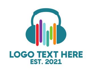 Audiology - Headphones & Beats logo design