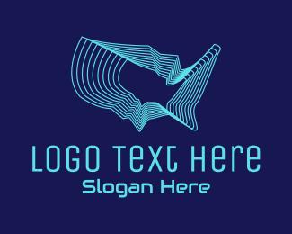 Telco - American Tech Map  logo design