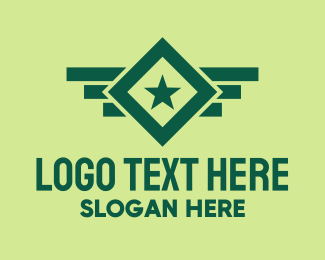 Infantry - Green Military Badge logo design
