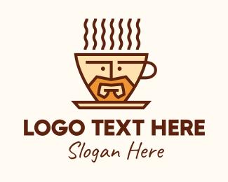 Mocha - Coffee Cafe Barista Man logo design