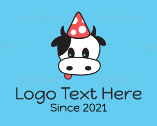 Party - Cow Party Hat logo design