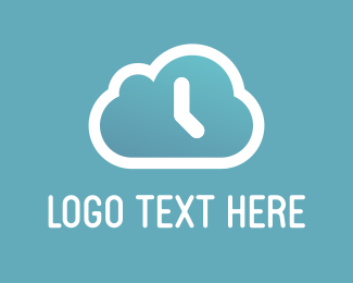 Timer - Cloud Clock logo design