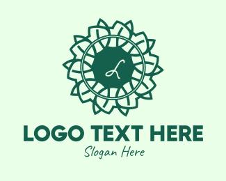 Monstera Deliciosa - Decorative Leaf Lettermark logo design