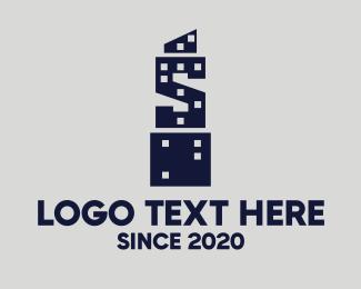 Letter S - Skyscraper Letter S logo design