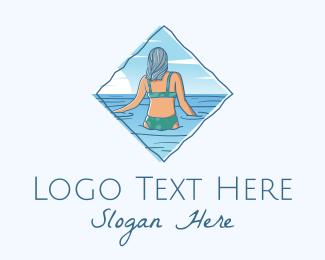Gal - Summer Beach Woman logo design
