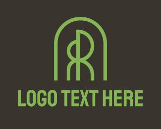 R - Tree Dome Letter R & R logo design