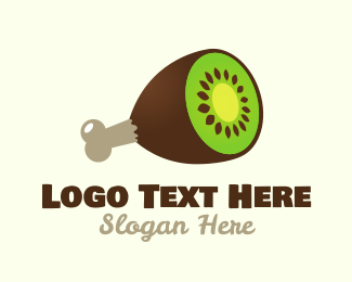 Drumstick - Kiwi Ham logo design