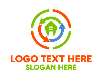 Red Building - Home Rebuilding logo design
