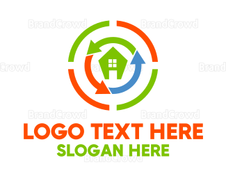 Rotation - Home Rebuilding logo design