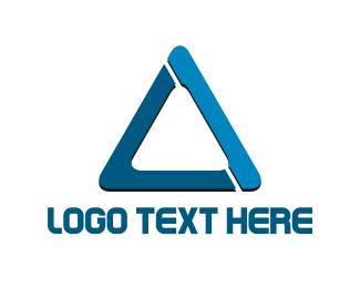 Fiberglass - Blue Triangle logo design