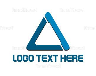 Memorable - Blue Triangle logo design