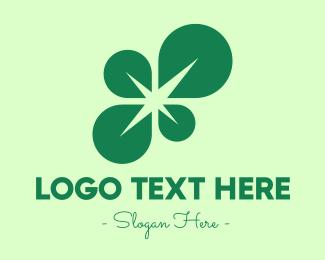 Spark - Green Leaf Spark logo design