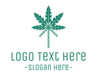 Hemp - Arrow Cannabis logo design