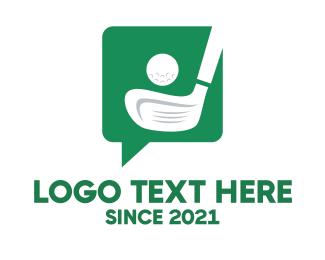 Golf Course - Green Golf Chat logo design