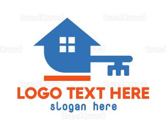 Burglar - Blue Key House logo design