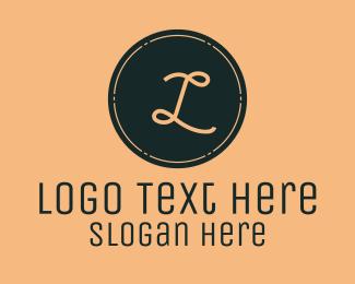 Vintage Round Stamp Lettermark Logo