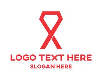 Giving - Gem Ribbon logo design