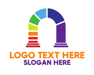 Arch - Colorful Arch logo design
