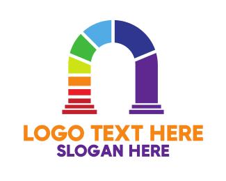 Arch - Colorful Arch logo design