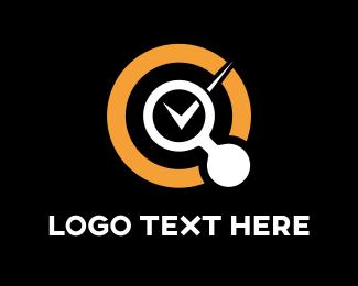 Magnifying Glass - Searcher Circle logo design